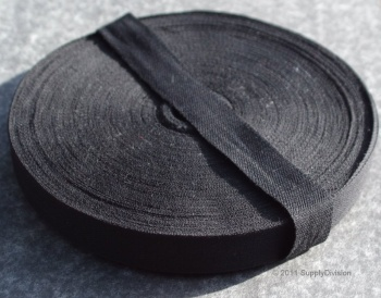 19mm Plain Weave Black cotton tape